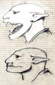 Ollllld artwork, back when I could still draw. I must return to this level again. Based on Cat skull.